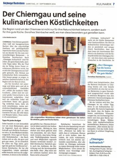 Zeitungsausschnitt Salzburger