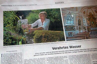 Heilige Quellen in der Süddeutschen Zeitung