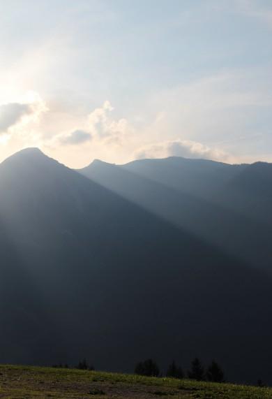 Streichen Sonnenuntergang