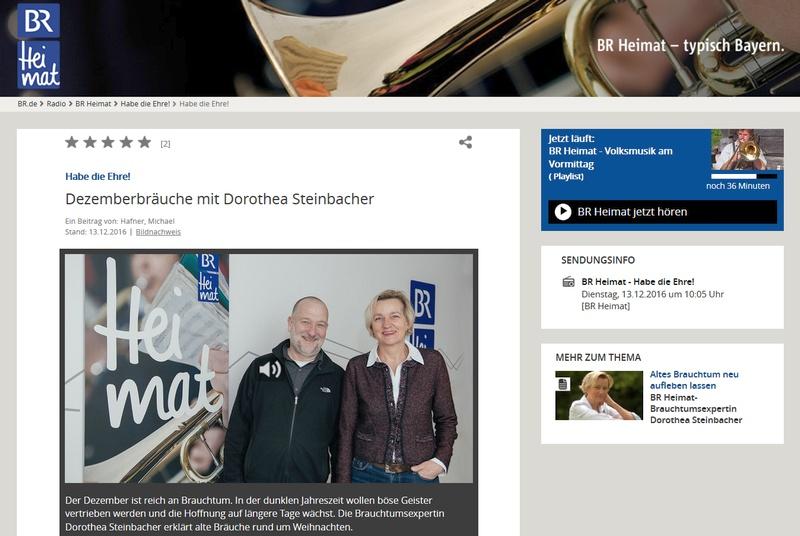 Gestern Im Radio Br Heimat Habe Die Ehre Redaktion Steinbacher